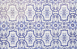 Decorated tiles. Tile decorated with designs of blue Royalty Free Stock Photography