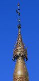Decorated top of Shwedagon Pagoda Stock Image