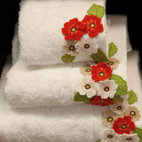 Decorated towels Stock Images