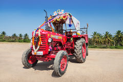 Decorated tractor Stock Image