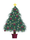 Decorated Tree 1. Illustration of decorated Christmas tree Royalty Free Stock Image