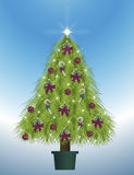 Decorated Tree. Illustration of decorated Christmas tree Royalty Free Stock Image
