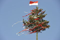 Decorated Tree at a Bavarian Country Fair Stock Image