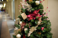 Decorated tree in new year Stock Photo