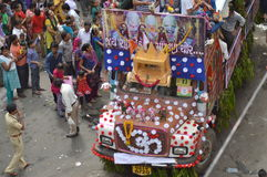 Decorated truck at  Rathyatra-2015, Ahmedabad Royalty Free Stock Images