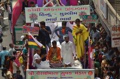 Decorated truck at  Rathyatra-2015, Ahmedabad Royalty Free Stock Photos