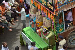 Decorated truckat  Rathyatra-2015, Ahmedabad Royalty Free Stock Photos