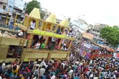 Decorated Trucks during Rathyatra Journey Royalty Free Stock Image