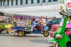 Decorated Tuk Tuk taxi in Bangkok, Thailand. royalty free stock photos