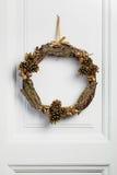 Decorated twig wreath Stock Image