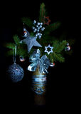 Decorated twig of Xmas tree Royalty Free Stock Images