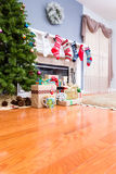 Decorated upmarket home at Christmas Royalty Free Stock Photo