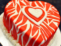 Decorated Valentines cake Royalty Free Stock Photo