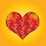 Decorated vector heart. Stock Photos