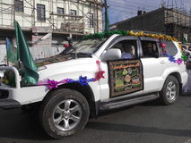 Decorated vehicle  in  Nairobi during Milad un Nabbi. Kenya. This happens during a festive holidays such as Eed, Milad un Nabbi Stock Photography
