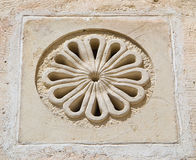 Decorated wall with air hole. Royalty Free Stock Photography