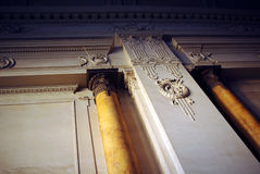 Decorated wall with antique marble columns Royalty Free Stock Photography