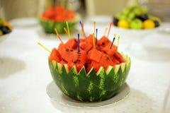 Watermelon with Sticks Stock Image