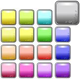 Decorated web buttons. Square rounded web buttons with a corner decoration Royalty Free Stock Photos