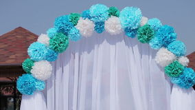 Decorated wedding arch Stock Photography