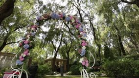 Decorated wedding arch Royalty Free Stock Image
