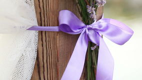 Decorated wedding arch elements stock video footage