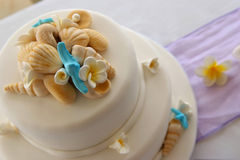 Decorated Wedding cake Stock Images