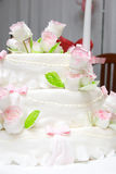 A decorated wedding cake Royalty Free Stock Image