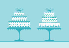 Decorated wedding cakes Stock Photo