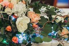 Decorated wedding flowers Royalty Free Stock Images