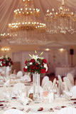 Decorated wedding table Royalty Free Stock Image