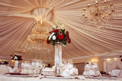 Decorated wedding table Stock Image