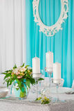 Decorated wedding table. stock images