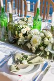 Decorated wedding table Stock Photo
