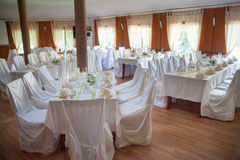 Decorated wedding tables Stock Images