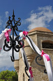 Decorated well at Ialyssos Church Royalty Free Stock Images