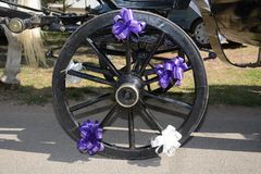 Decorated wheel for wedding Royalty Free Stock Photography