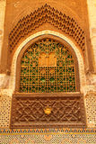 Decorated window of a mosque Stock Image