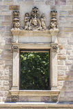 Decorated window in Barcelona Stock Photos