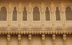 A decorated window in Bikaner. A decorated window forms part of a facade of a building in Bikaner, India stock photo