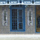Decorated window in  building in Tunis Royalty Free Stock Images