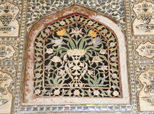 Decorated Window Cover in Amber Fort. Royalty Free Stock Photos