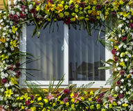 Decorated window of home Stock Images