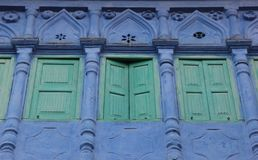 A decorated window in Jodhpur. A decorated window forms part of the facade of a building in the city of Jodhpur, India stock images
