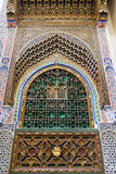 Decorated window of a mosque in Fes Stock Images