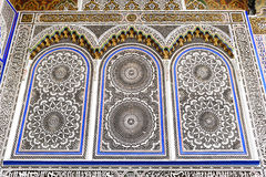 Decorated window of a mosque in Fes Stock Photography