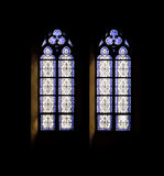 Decorated Windows. In the Elisabethenkirche in Basel, Switzerland Royalty Free Stock Images