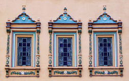 Decorated windows Royalty Free Stock Photo