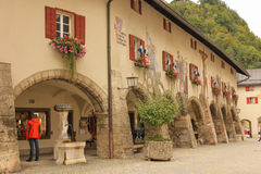 Decorated windows. Berchtesgaden.Germany Royalty Free Stock Photo