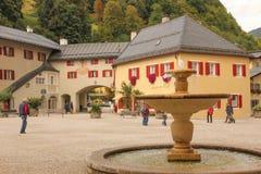 Decorated windows. Berchtesgaden.Germany Royalty Free Stock Photos